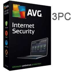 AVG INTERNET SECURITY  3 PC 1 YEAR