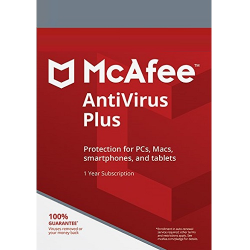 MCAFEE ANTIVIRUS PLUS 3 DISPOSITIVOS 1 AÑO
