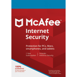 MCAFEE INTERNET SECURITY 3 DISPOSITIVOS 1 AÑO