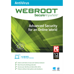WEBROOT SECUREANYWHERE ANTIVIRUS 1 DEVICE 1 YEAR