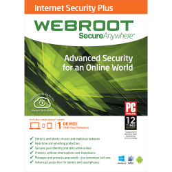 WEBROOT SECUREANYWHERE INTERNET SECURITY PLUS 1 DISPOSITIVO  1 ANNO