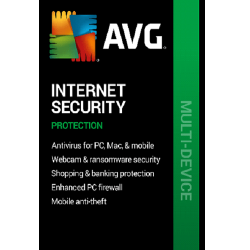 AVG INTERNET SECURITY  3 DEVICES 1 YEAR