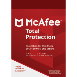 MCAFEE TOTAL PROTECTION 5 DEVICES 1 YEAR