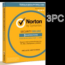 NORTON SECURITY DELUXE 3 PC 1 AÑO