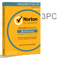 NORTON SECURITY DELUXE 3 PC 1 YEAR