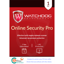 WATCHDOG ANTIMALWARE  1 PC 2 AÑOS