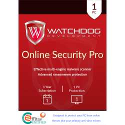 WATCHDOG ANTIMALWARE  1 PC 3 AÑOS