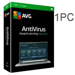 AVG Antivirus 1PC  1 Year - EX BOX