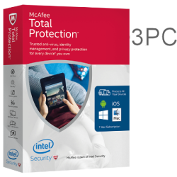 MCAFEE TOTAL PROTECTION 3PC 1YEAR EX-BOX