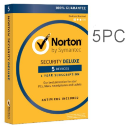 NORTON SECURITY DELUXE 5PC 1YEAR EX-BOX